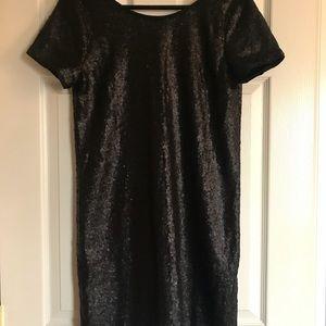 Francesca's Collections Dresses - Francesca's Black Sequin Party Dress